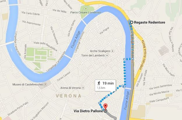 teatro romano verona jhv mappa percorso a piedi
